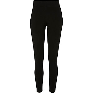Black side zip detail skinny pants