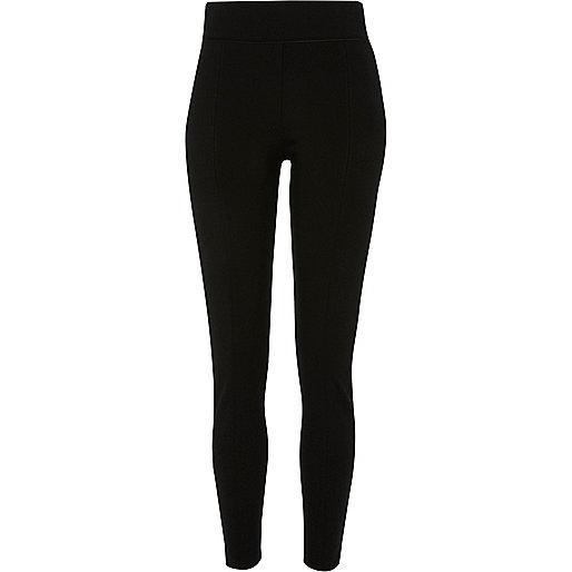 Pantalon coupe skinny noir à détail zippé sur le côté