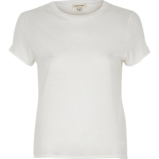 T-shirt blanc slim