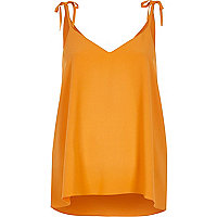 Orange shoulder tie cami