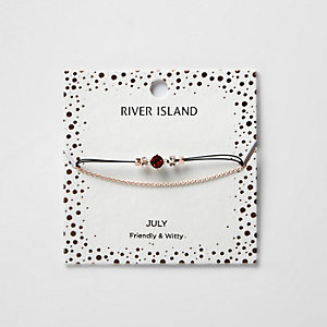 Rotes Armband mit Geburtsstein für Juli
