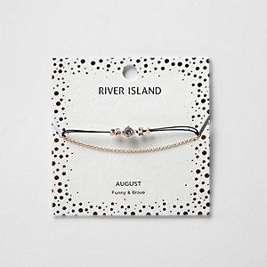 Bracelet chaîne avec pierre de naissance verte mois d'août