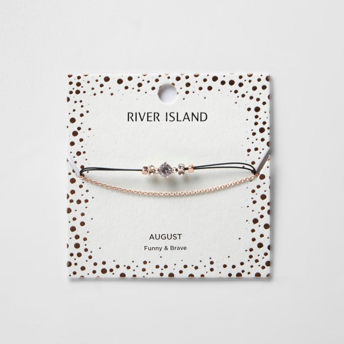 Green August birthstone chain bracelet