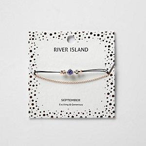 Blaues Armband mit Geburtsstein für September
