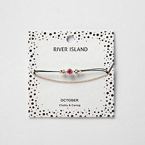 Pinkes Armband mit Geburtsstein für August