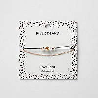Bracelet chaîne avec pierre de naissance orange mois de novembre