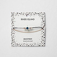 Blaues Armband mit Geburtsstein für Dezember