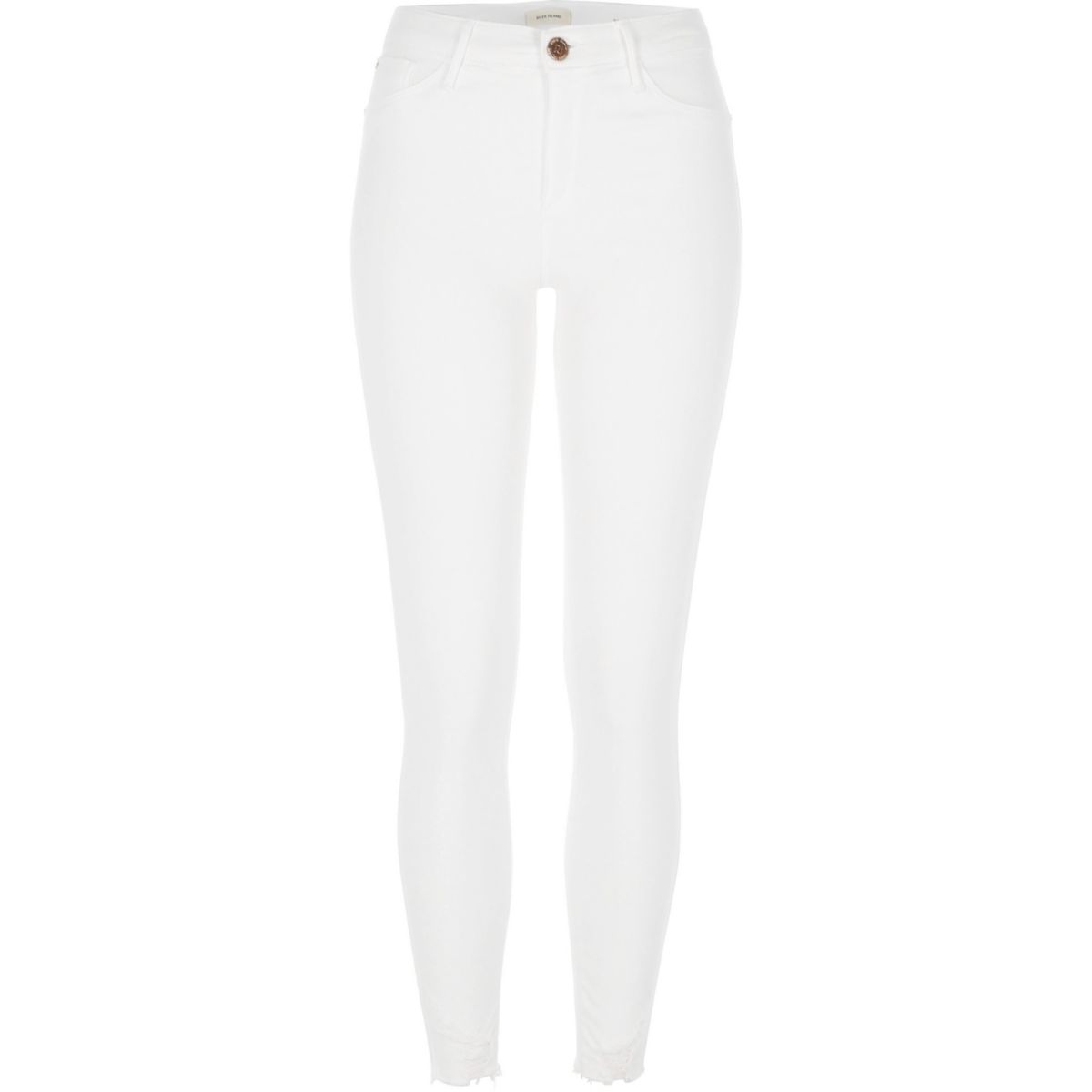 White distressed Molly skinny jeggings