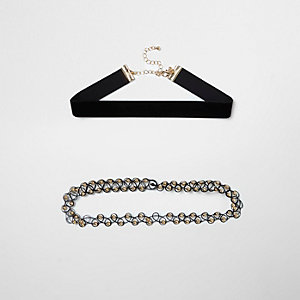 Black velvet '90s tattoo choker pack