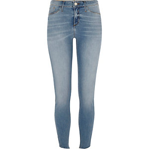 Molly – Skinny Jeggings in blauer Waschung