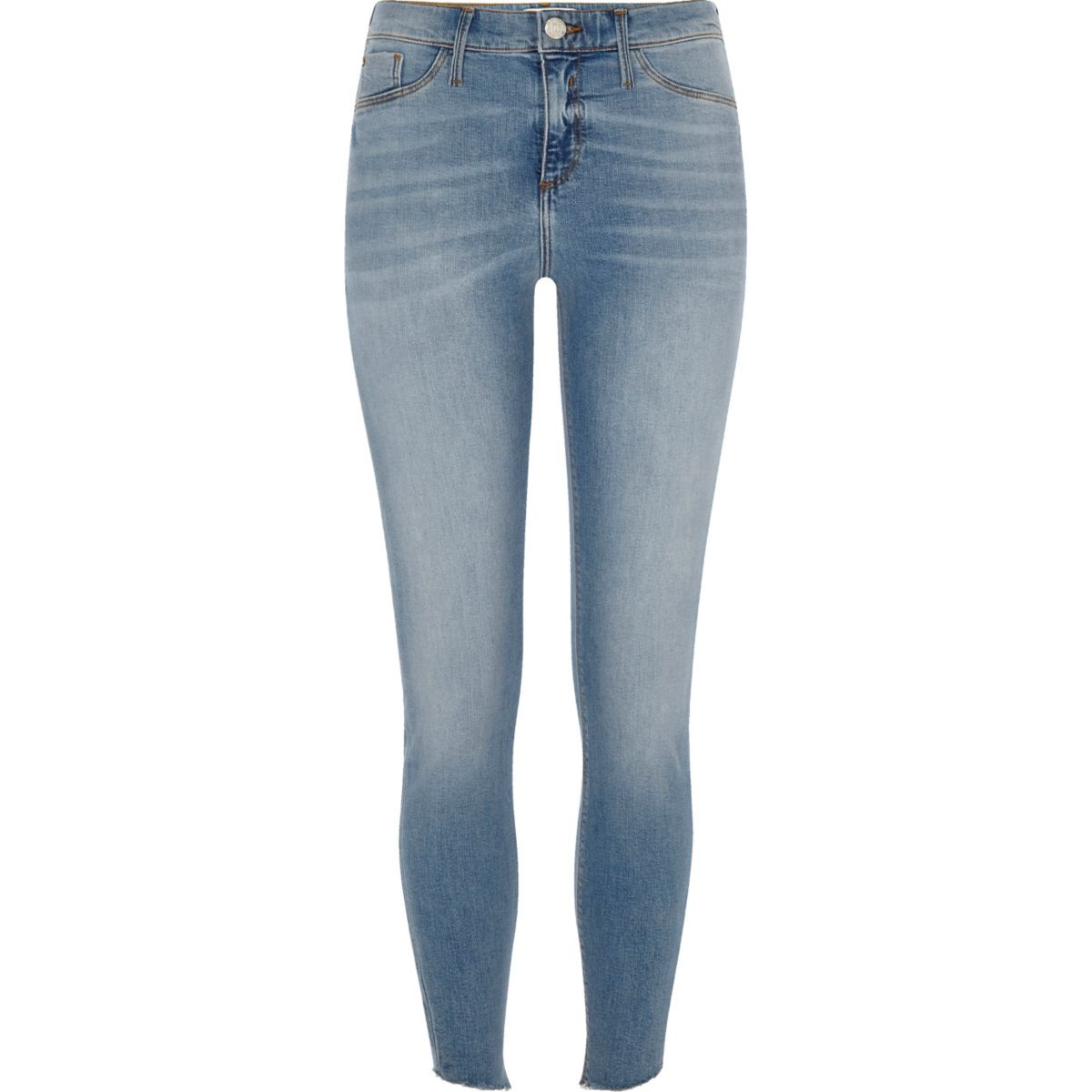 Blue wash Molly skinny jeggings