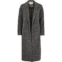 Dark grey marl longline jacket