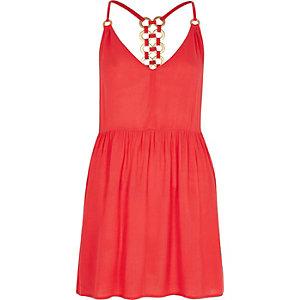 Swing-Kleid in Koralle