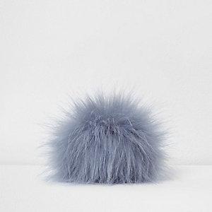Blauwe pompon