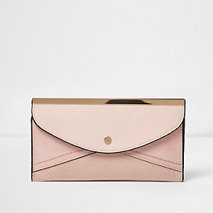 Cream slim foldout envelope purse