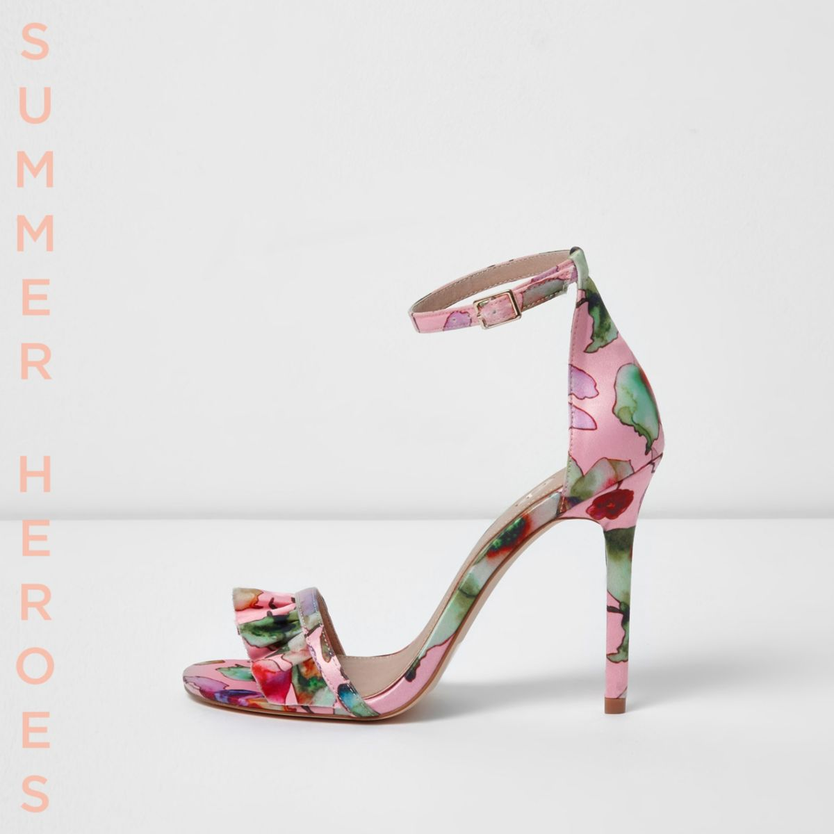 Sandales Minimalistes Rose Avec Semelle Plate wA3lNiRqG