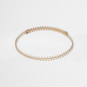 Gold tone 90s wire choker