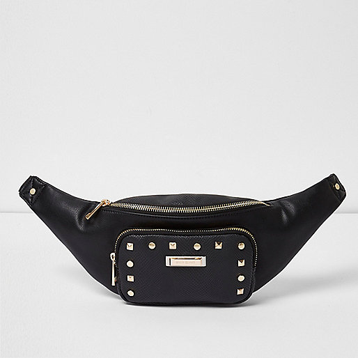Black studded bum bag - Bumbags - Bags & Purses - women