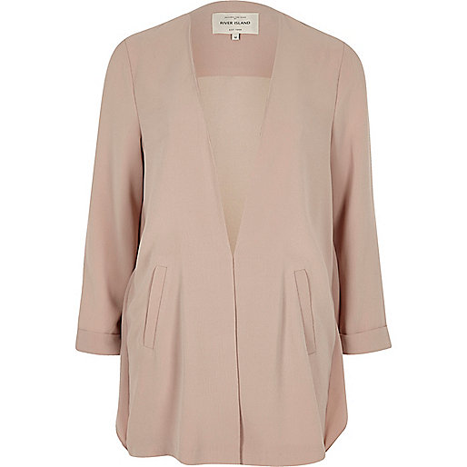 Pink frill back duster coat