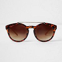 Braune, runde Sonnenbrille