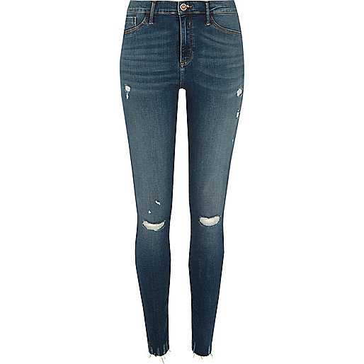 Blue Molly ripped skinny jeggings