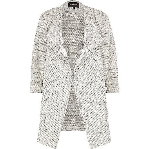 Light grey waterfall jacket