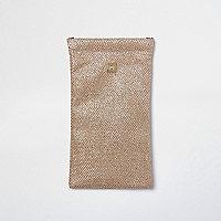 Goudkleurige zonnebrilhoes met glitters
