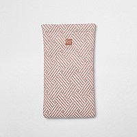 Roze geweven zonnebrilhoes met geometrische print