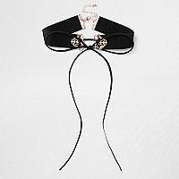 Plus black filigree corset choker