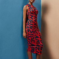 Red Design Forum 'amazing' bodycon midi dress