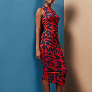Red Design Forum 'amazing' bodycon midi dress