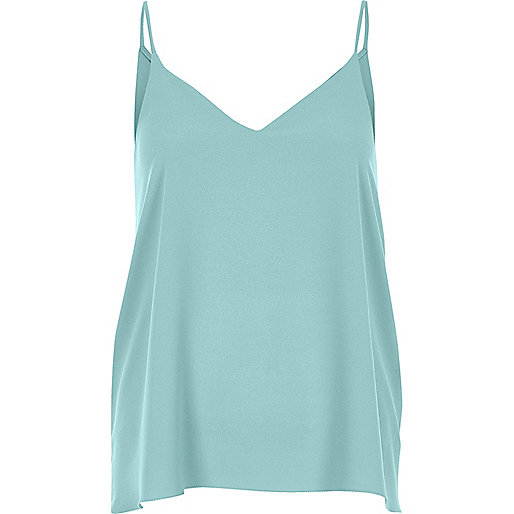 Green cross back cami top