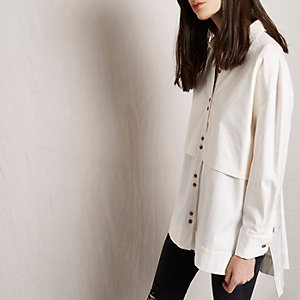 White RI Studio double layer longline shirt