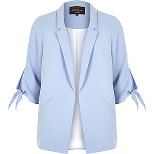 Light blue tie cuff blazer