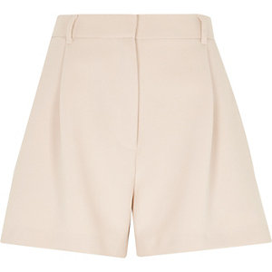 Light pink smart high waisted shorts