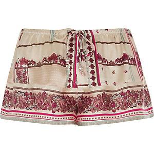 Pyjama-Shorts in Creme
