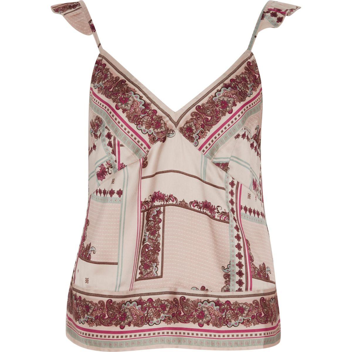Cream floral cami pajama top