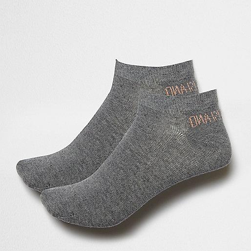 Grey trainer socks pack