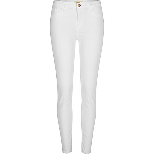 White Amelie super skinny jeans