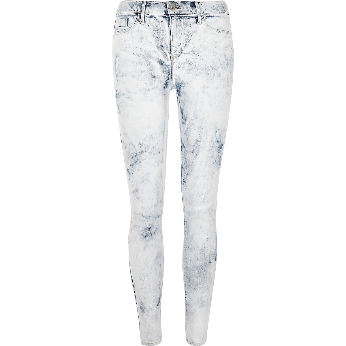 White acid wash paint effect Molly jeggings