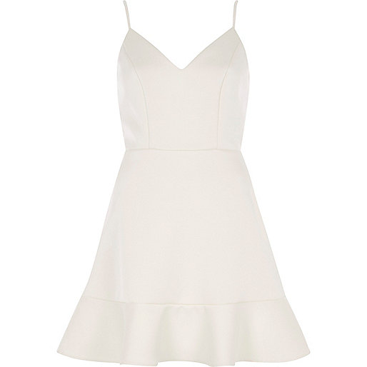 White cami skater dress