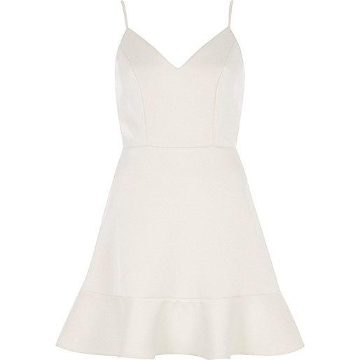 White cami skater dress
