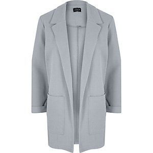 Light grey textured cardigan jacket
