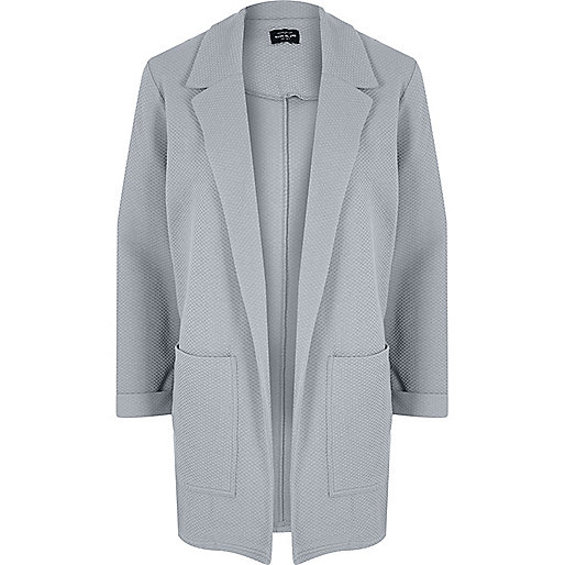 Cardigan gris clair texturé