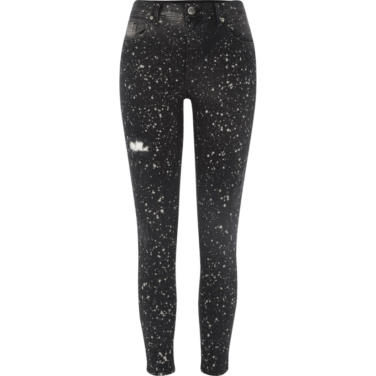 Black paint Amelie super skinny jeans