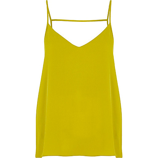 Lime strappy back cami top