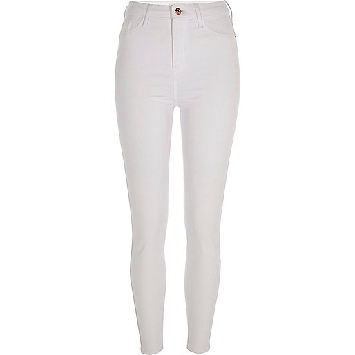 White Harper super skinny jeans