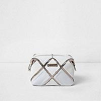 White cutabout metallic make-up bag