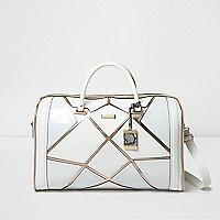 Reisetasche in Weiß und Roségold
