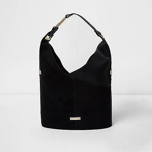Black wrapped underarm slouch bag